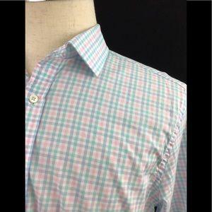 Vineyard Vines Shirts - Vineyard Vines Pink Green Blue 120's COOPER Shirt